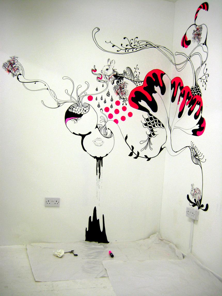 Как и чем нарисовать картину на стене своими руками
